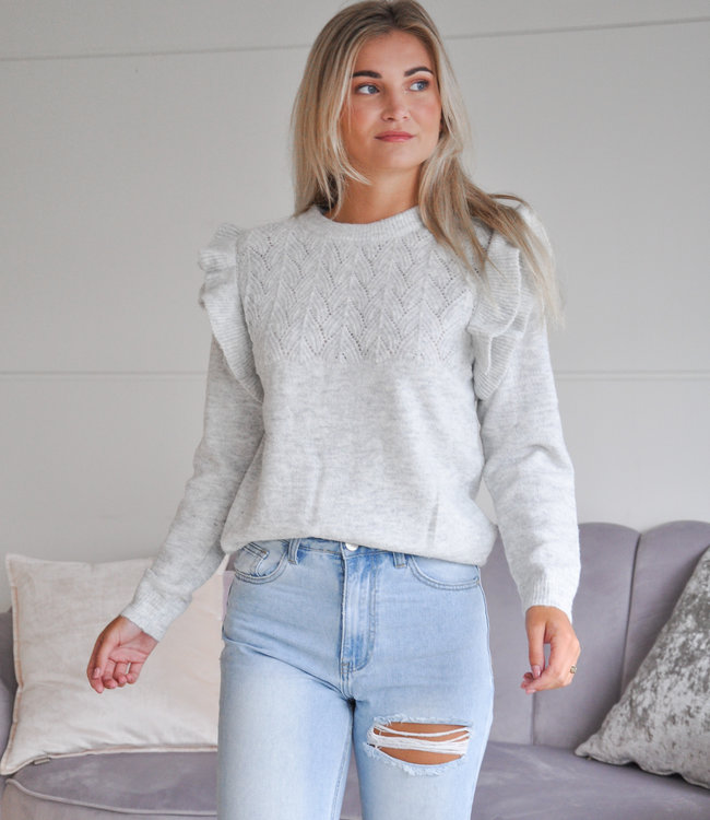 TESS V Luna sweater grey