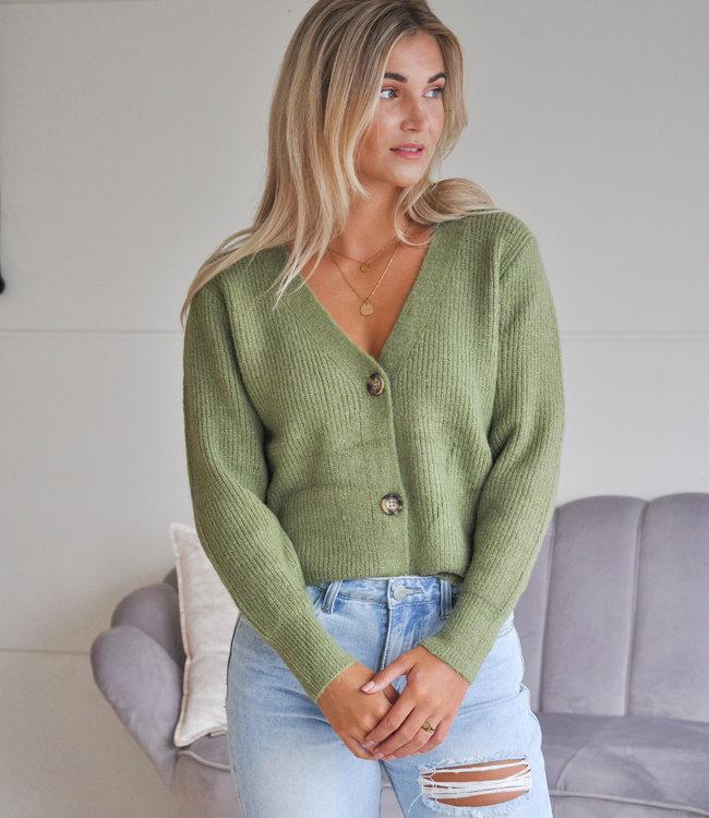 TESS V Pixie vest green