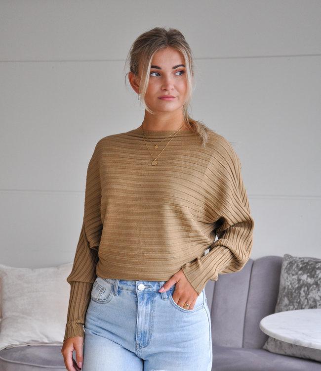 TESS V Gina sweater camel