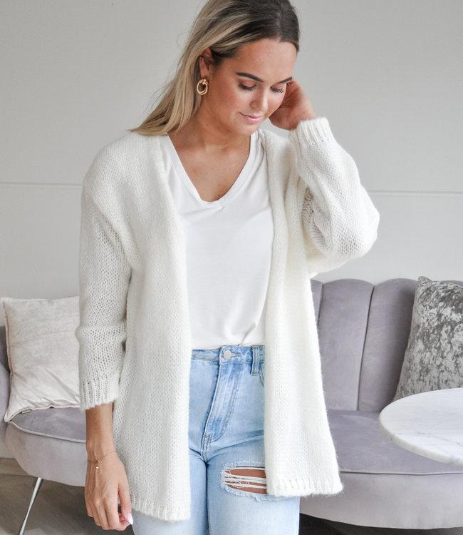 TESS V Lisa vest white