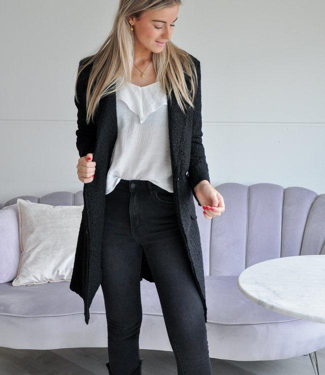 TESS V Danique coat black