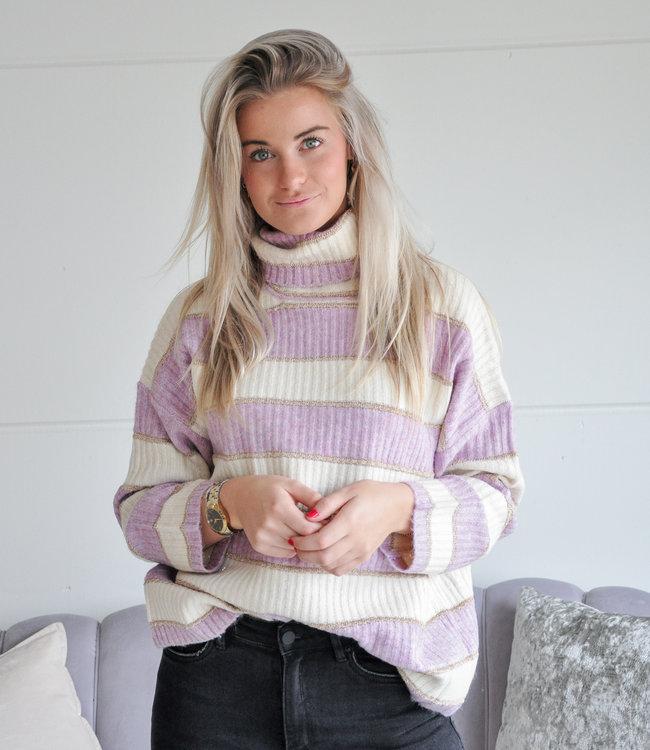 TESS V Bisou sweater lila