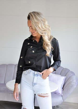 TESS V Bee blouse black