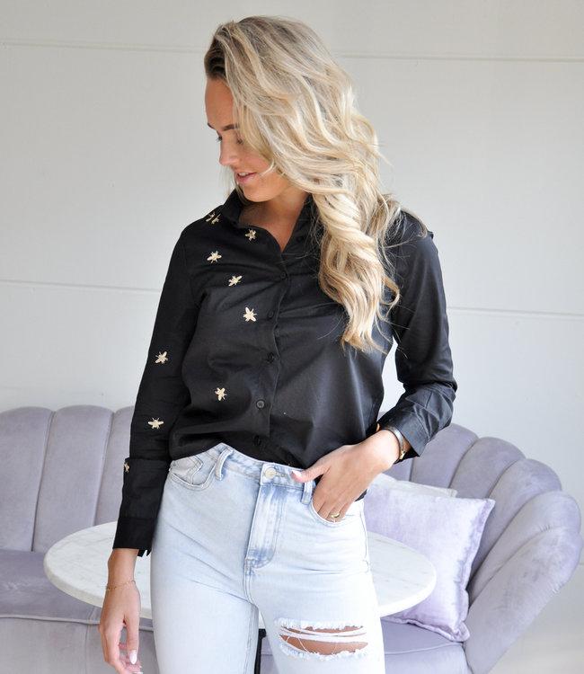 TESS V Bee blouse black