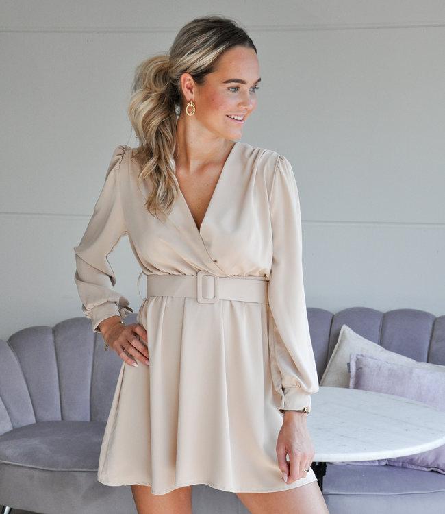 TESS V Hajar dress beige