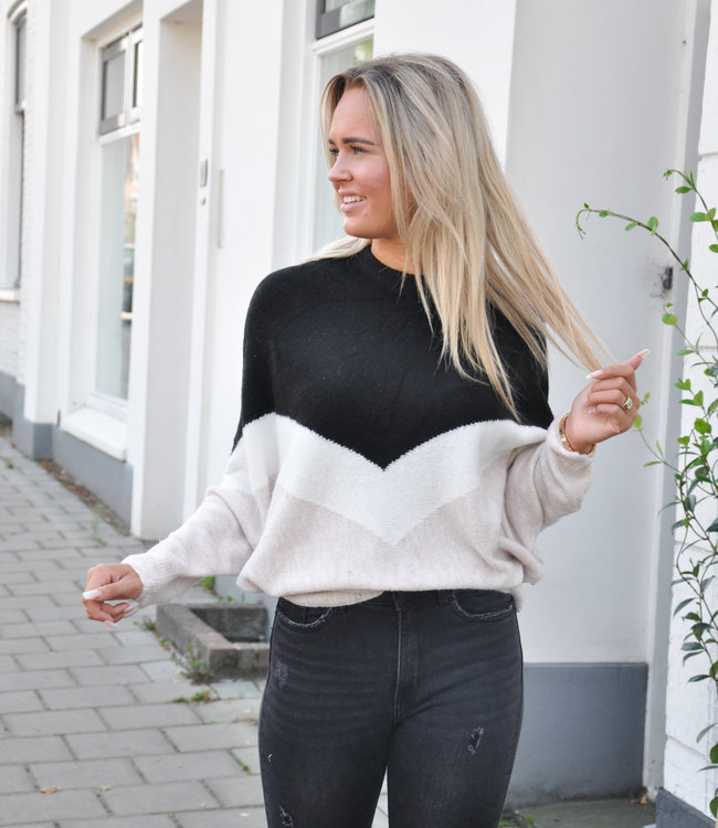 TESS V Flore sweater black