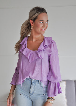 TESS V Alyssa blouse purple