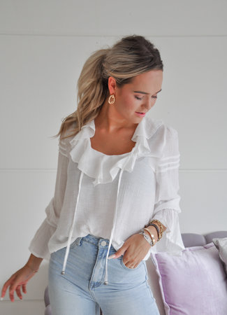 TESS V Alyssa blouse white