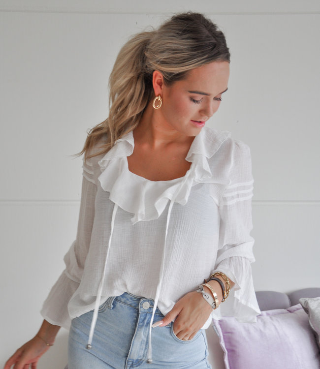 TESS V Alyssa blouse white