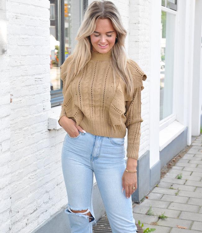 TESS V Yentl sweater brown