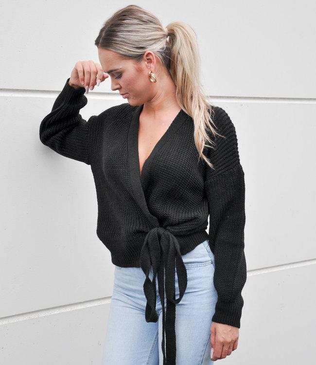 TESS V Lulu wikkel vest black