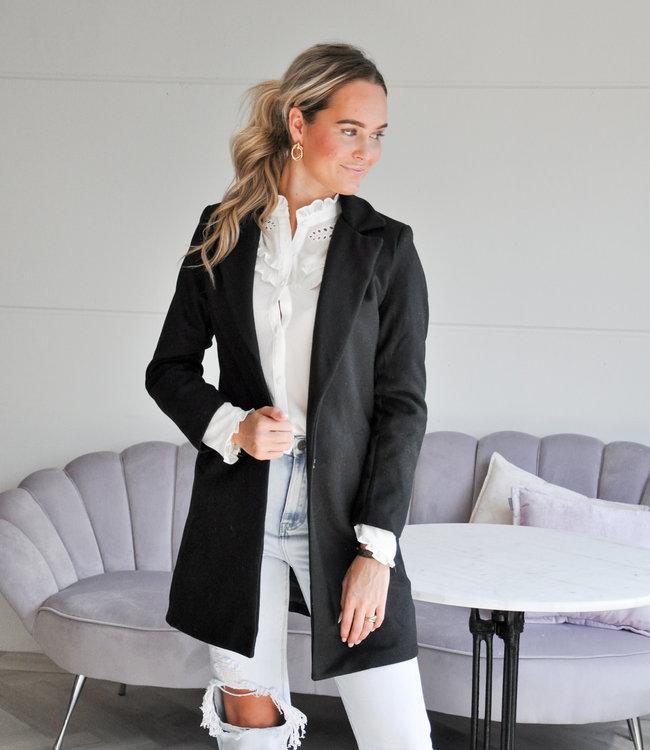 TESS V Veerle coat black