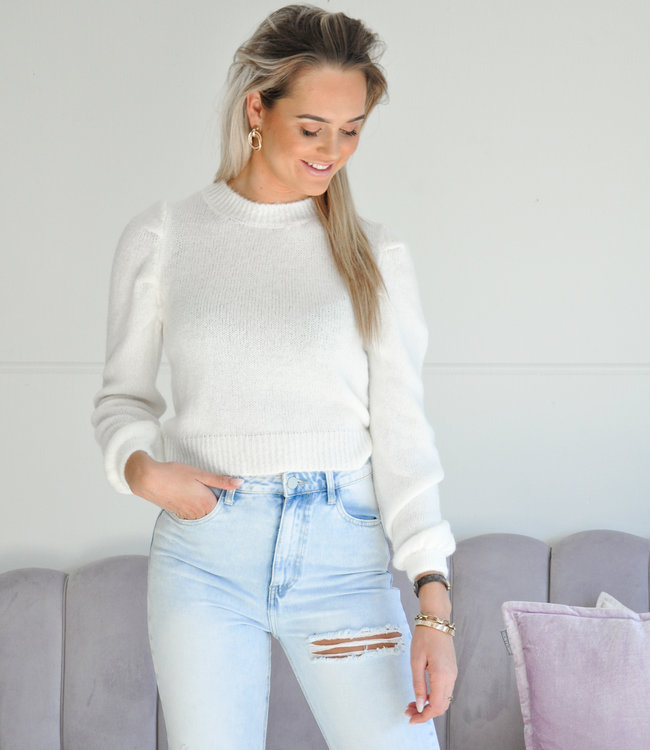 TESS V Mitzy sweater white