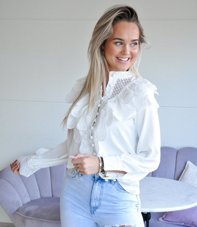 TESS V Elaine blouse white
