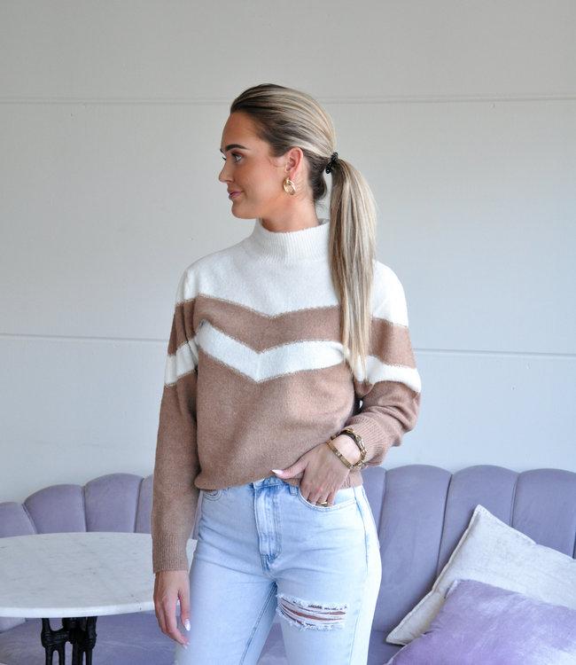 TESS V Noami sweater camel