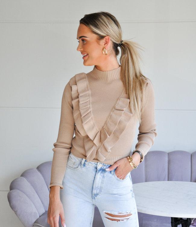 TESS V Famke sweater beige