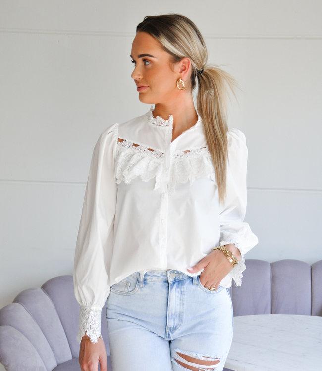 TESS V Bibi blouse white