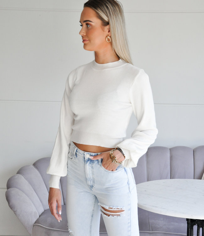 TESS V Kendall sweater white
