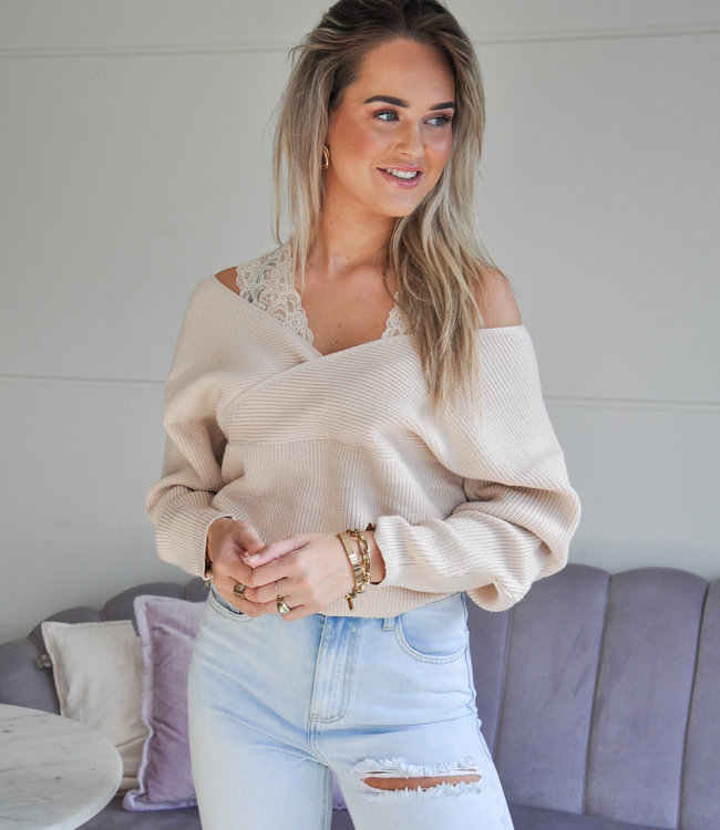 TESS V Jayne sweater beige