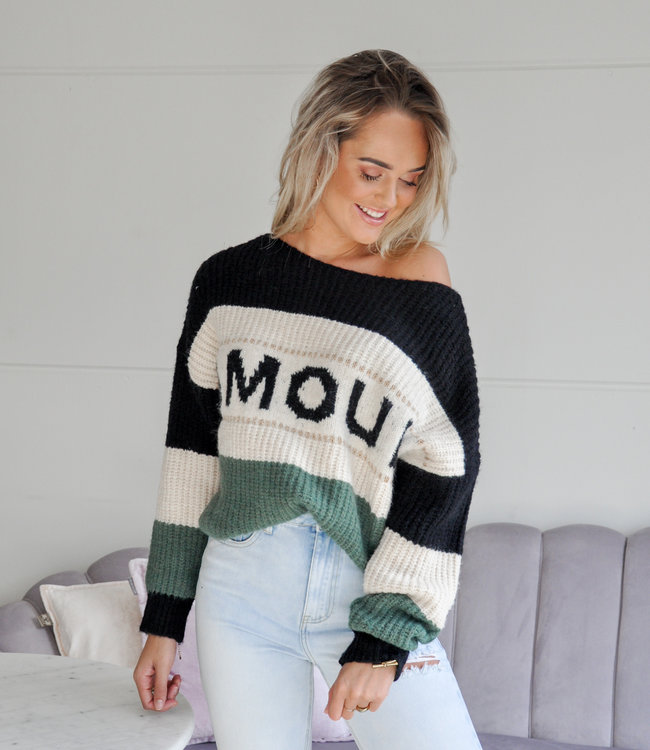TESS V Amour sweater green