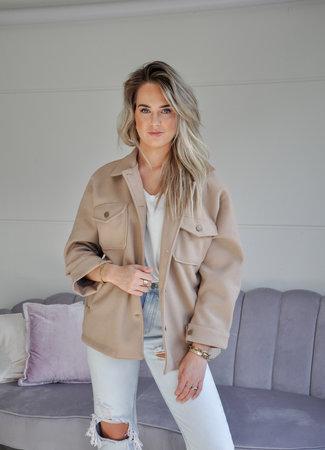 TESS V Feline jacket beige