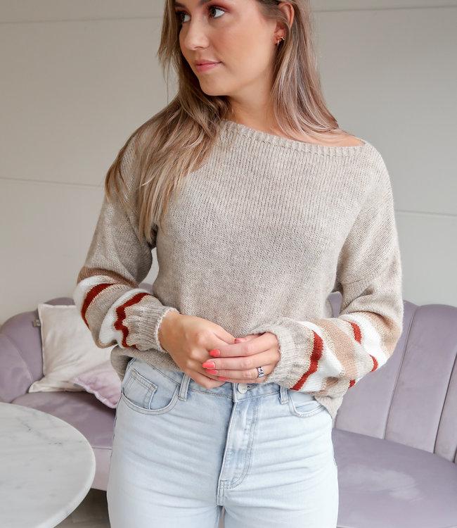 TESS V Ruby sweater orange
