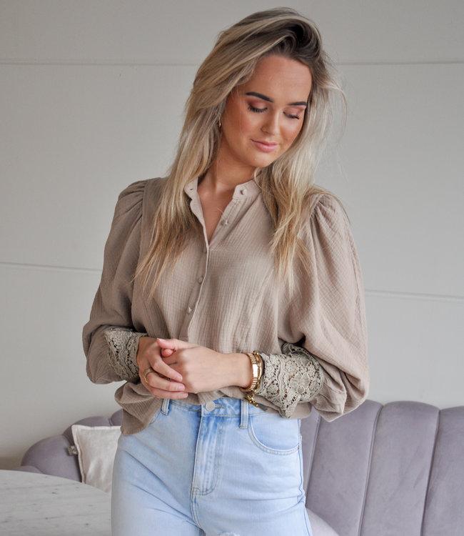 TESS V Suus blouse sand