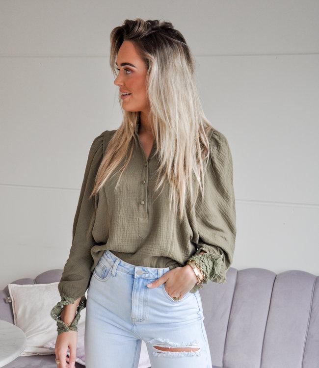 TESS V Suus blouse green