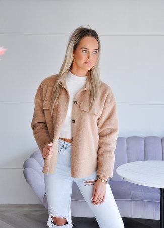 Ambika Elize teddy jacket camel