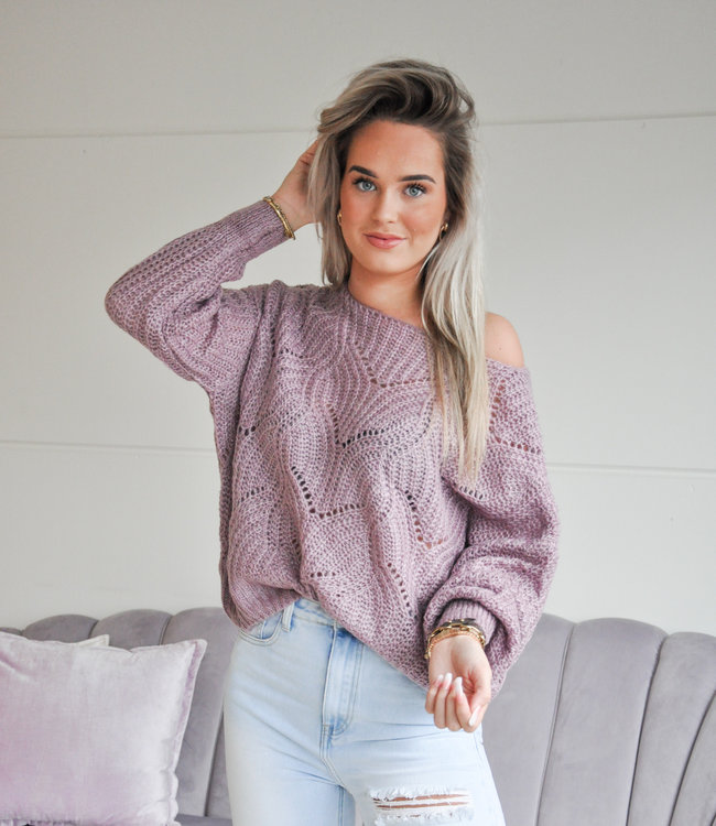 TESS V Kae sweater purple