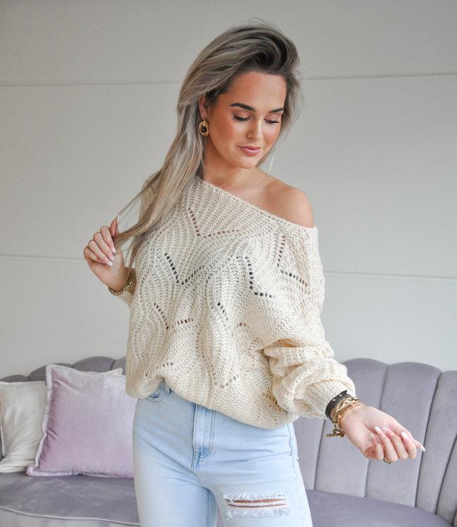 TESS V Kae sweater creme