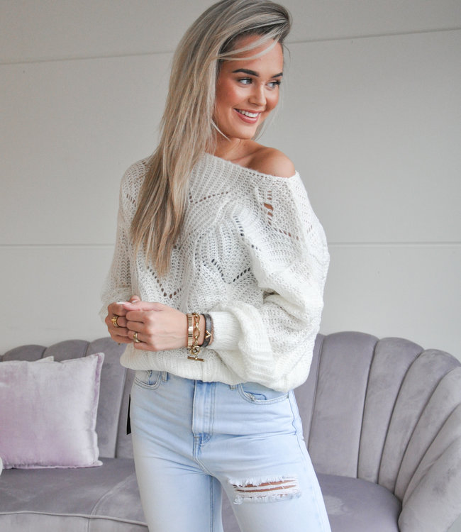 TESS V Kae sweater white