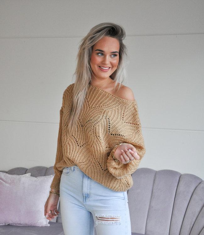 TESS V Kae sweater camel