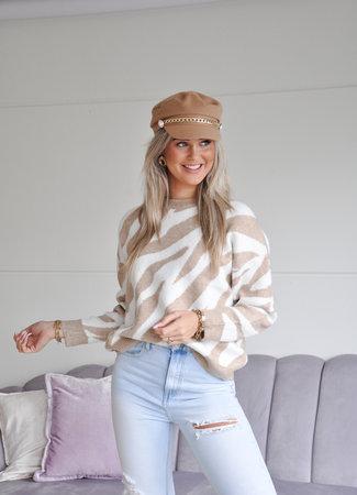 TESS V Maud zebra sweater
