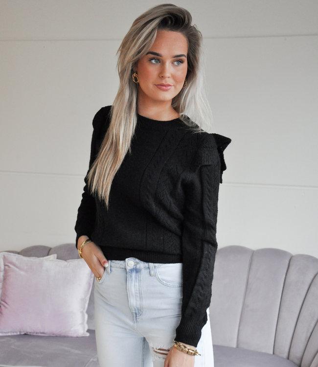 TESS V Sky sweater black