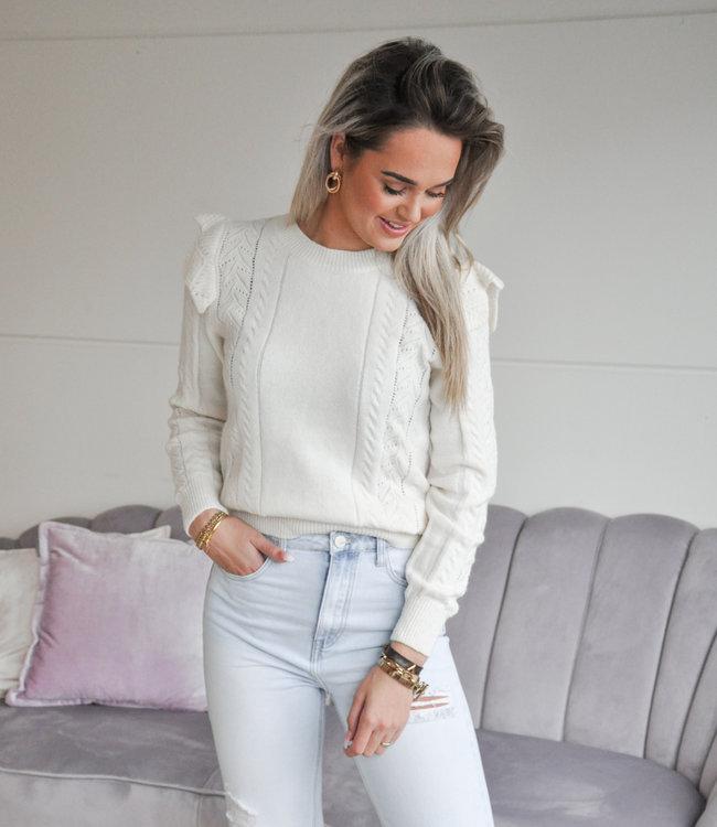 TESS V Sky sweater beige