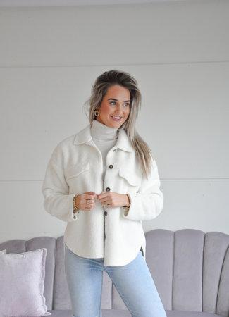 Ambika Elize teddy jacket white