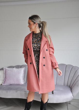 Marie coat pink