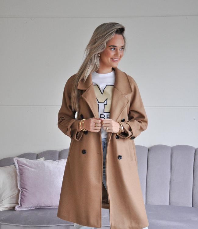 TESS V Marie coat camel