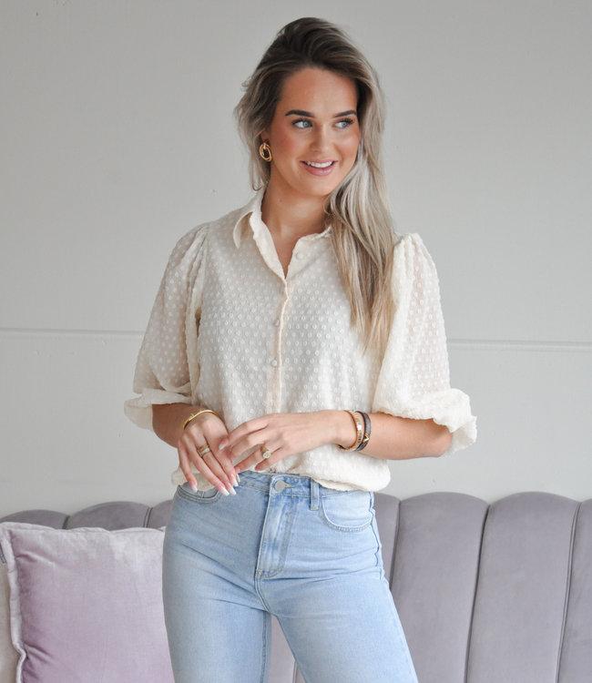 TESS V Sharon blouse beige