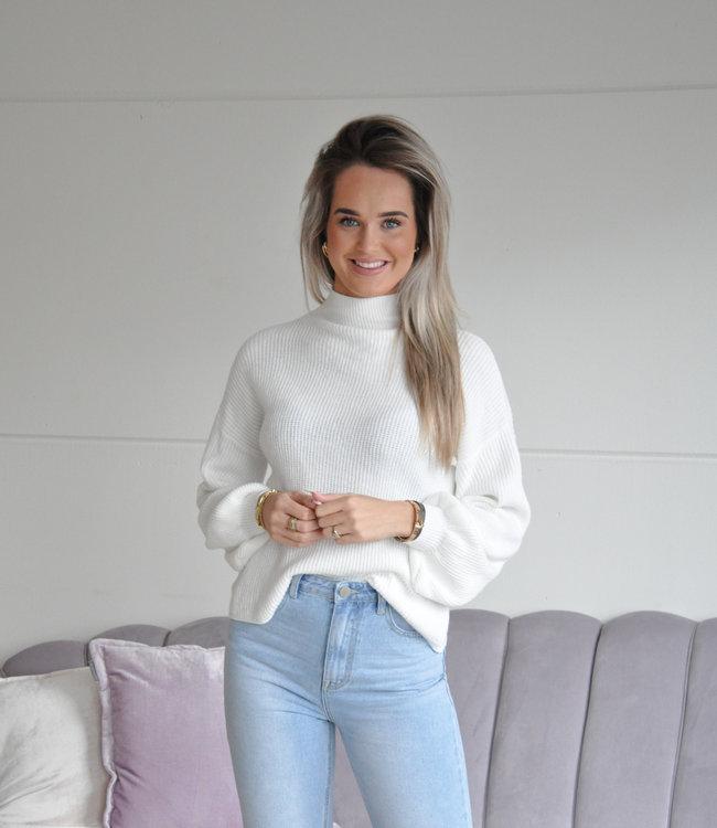 TESS V Sammy sweater white