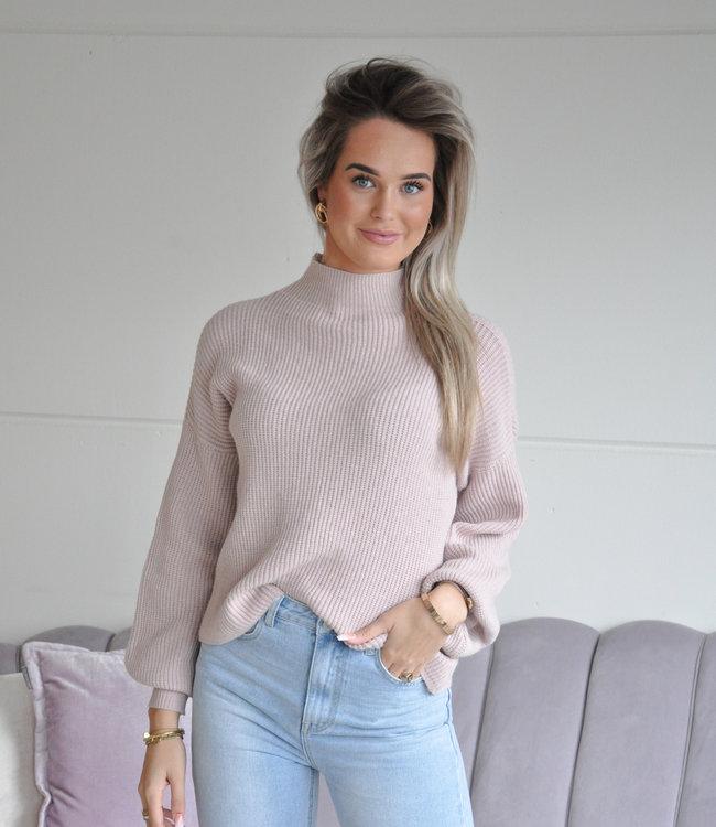 TESS V Sammy sweater light pink