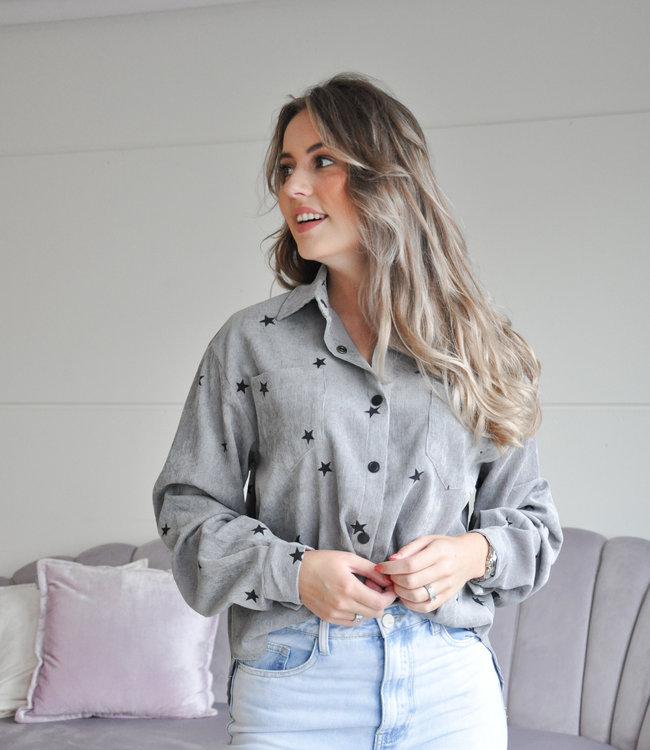 Ambika Esmee stars blouse grey