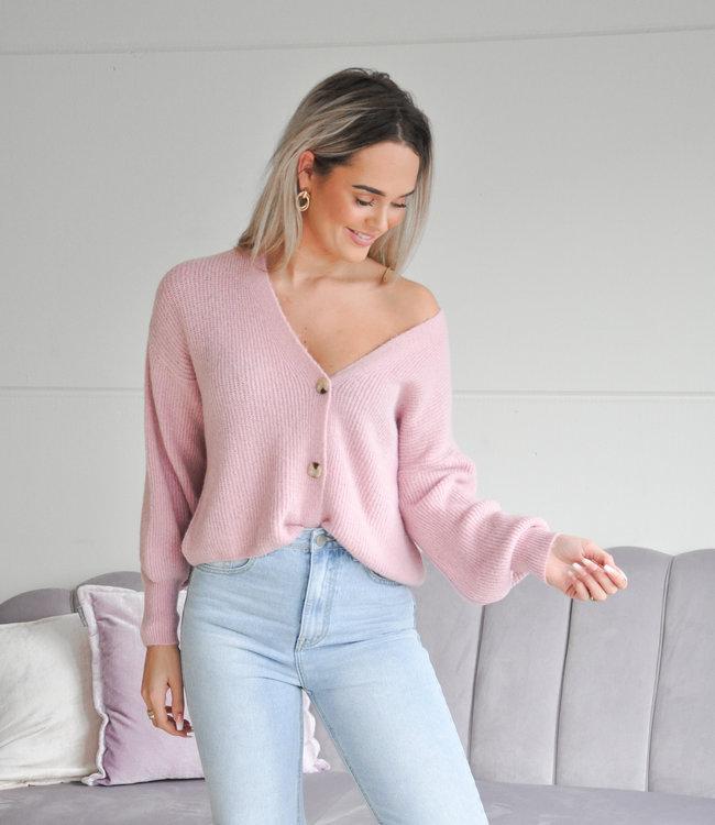 TESS V Nica vest light pink