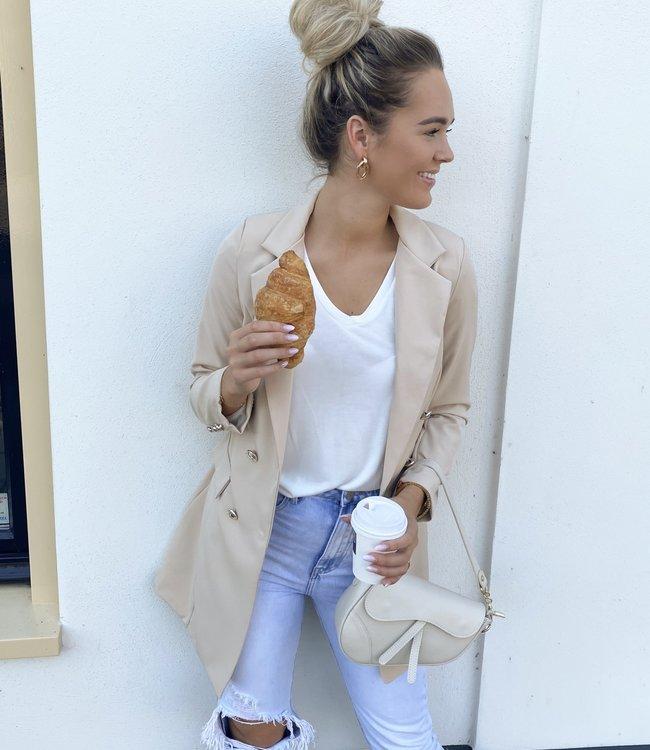 TESS V Olivia blazer beige