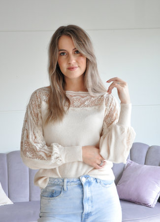 TESS V Bibi sweater beige
