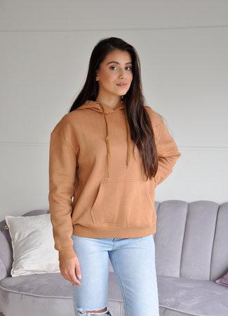 TESS V Fenna hoodie camel
