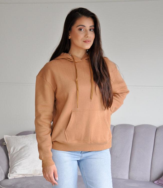 Fenna hoodie camel