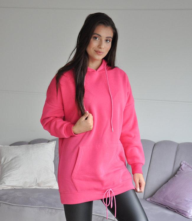 Pink long hoodie