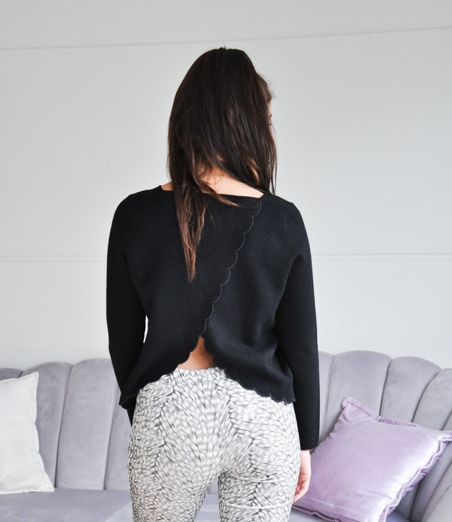 TESS V Stella sweater black